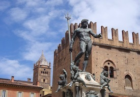 Fountain of Neptune in Bologna Italy