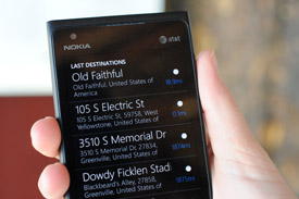 Nokia Drive on Lumia 900