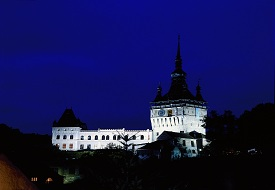 Sighisoara-in-the-evening