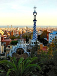 Overlooking Barcelona from Park Guell