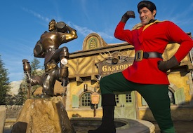 Gaston Flaunts for Guests at New Fantasyland