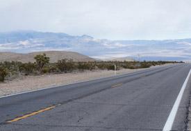 Las Vegas desert road