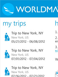 WorldMate app for Windows Phone 8