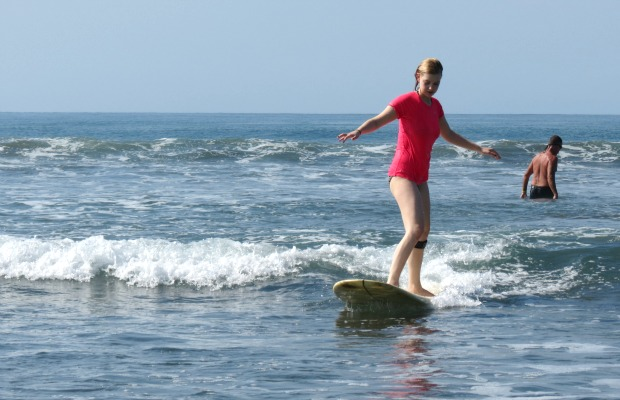 Mandy Surfing Costa Rica