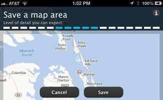 Nokia Here Offline Mapping on iPhone