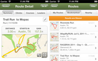 Mapping Routes iPhone