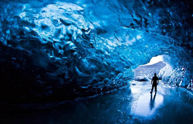 Crystal Cave in Skaftafell