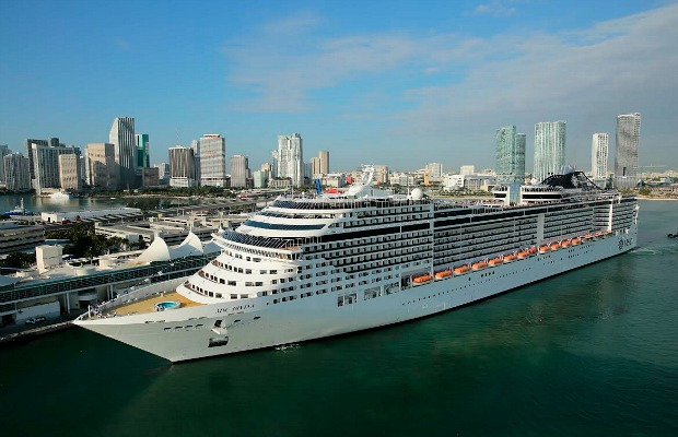 The MSC Divina in Miami