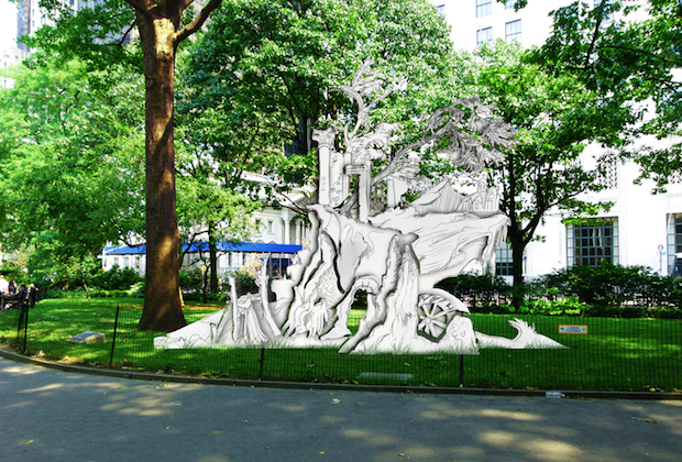 madison square park follies art installation rachel feinstein