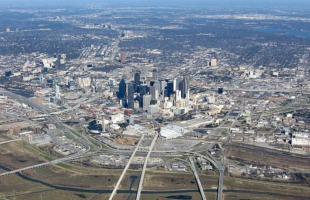 Texas - Dallas - Aerial View - 620x400 - flickr nffcnnr