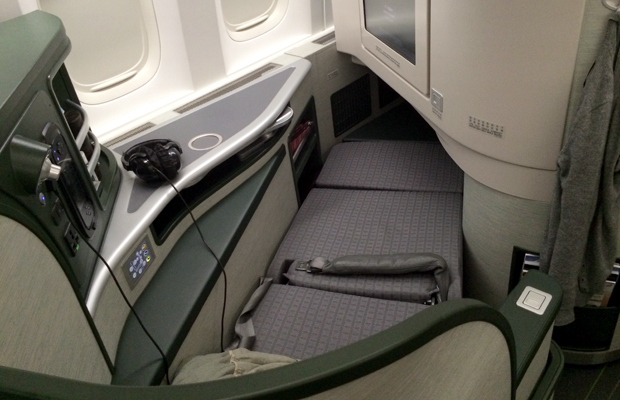 eva air - business class - lie flat beds - christine wei - 620