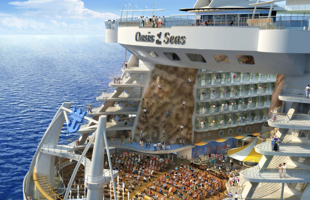 royal caribbean oasis of the sea climbing wall
