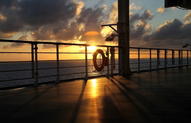 sunset on cruise deck - Samantha Beddoes - 620