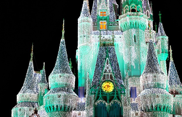 Disney Cinderella Castle at Christmas