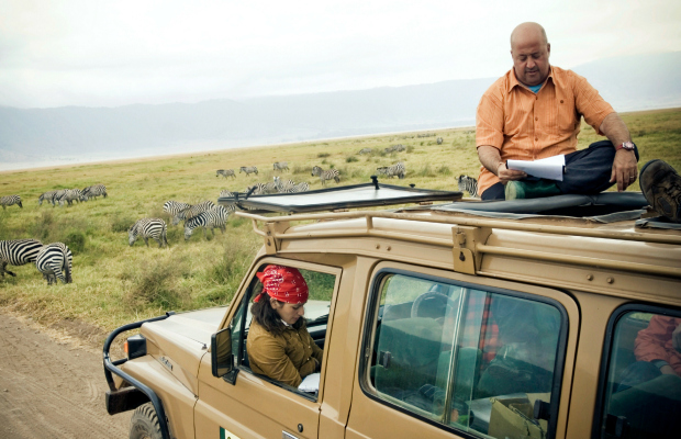 Andrew Zimmern in Tanzania