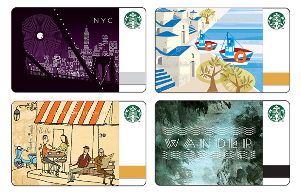 starbucks gift cards new designs 2014