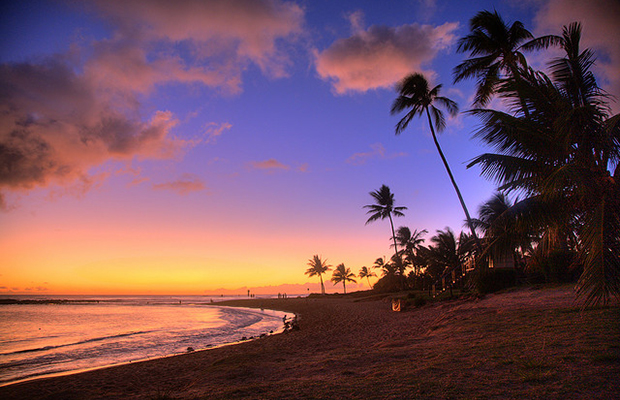 sunset in kauai, a romantic destination that's great for solo travelers