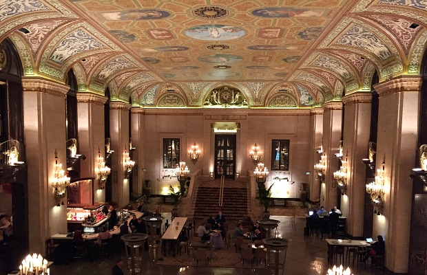 Lobby of the Palmer House Hilton Hotel Chicago