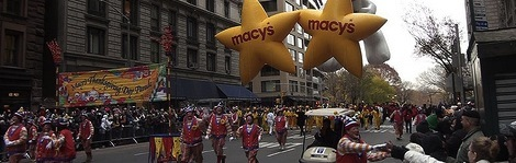 new york city's macy's parade during thanksgiving