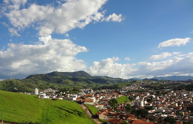 city view of itajuba in minas gerais, brazil