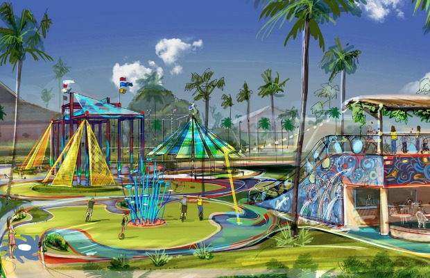 Rending of the Club Med/Cirque du Soleil Playscape in Punta Cana