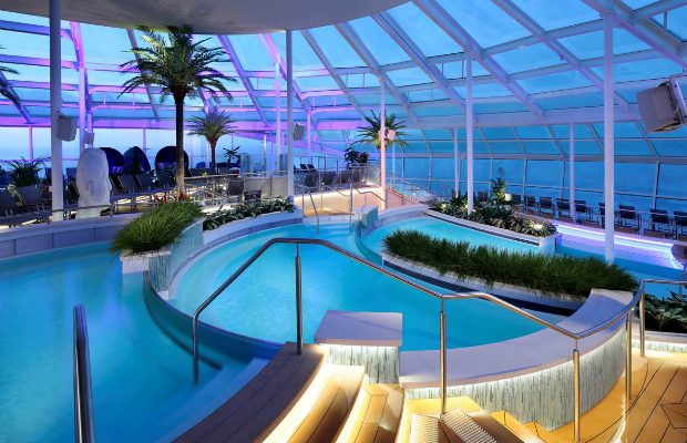 adults-only solarium deck pool on royal carribean international's anthem of the season