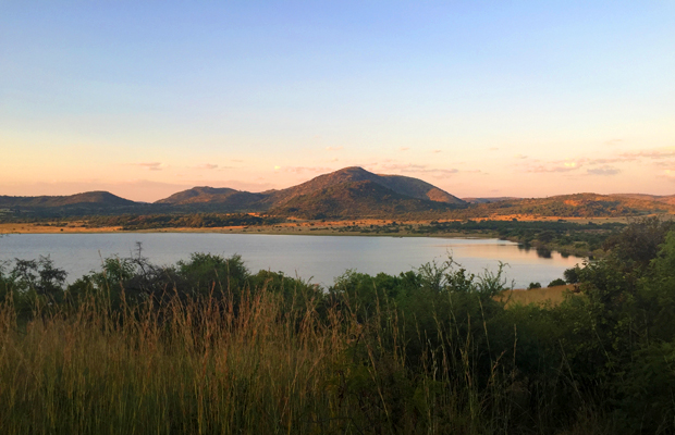 Pilanesberg National Park, Johannesburg, South Africa, at sunset