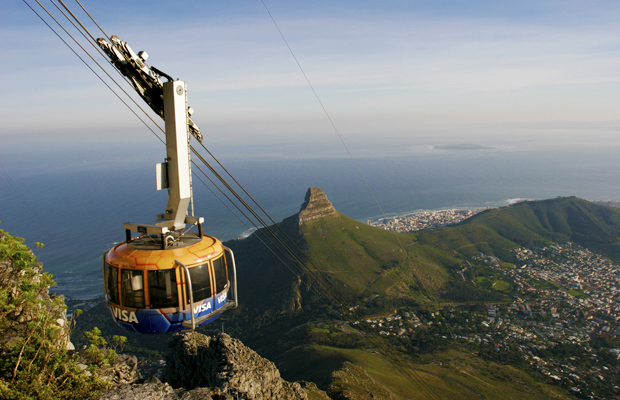 Cable Car to Table Mountain in Cape Town, South Africa