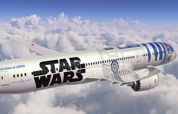 JAPAN-US-ENTERTAINMENT-AIRLINES-ANA-STAR WARS