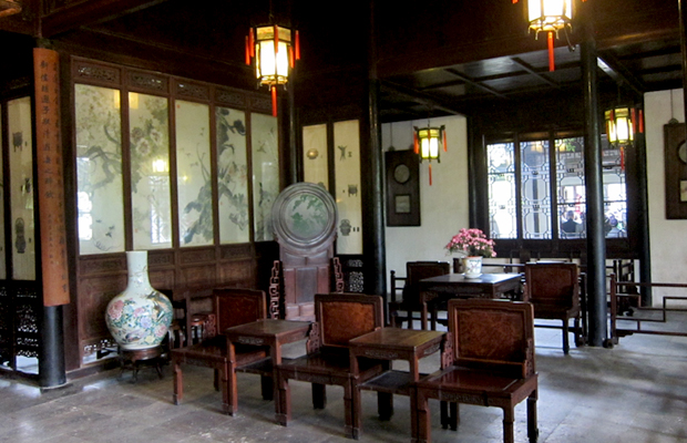 sitting room in Lingering Garden, Suzhou, China
