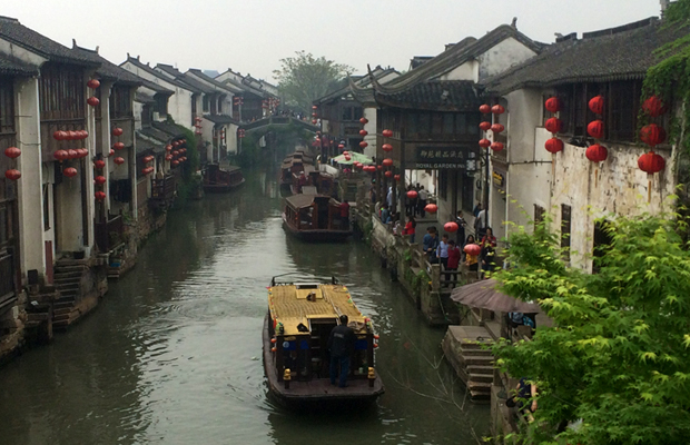 main canal in Suzhou, China