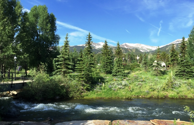 Blue River in Breckenridge1, running along the bike path