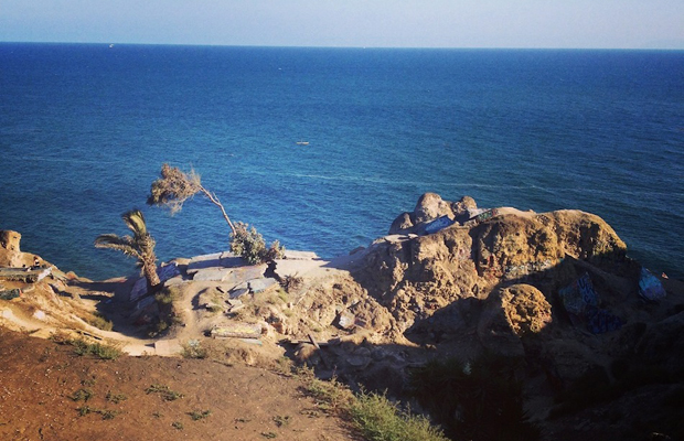 Sunken City between Cabrillo Beach and Point Fermin Park, San Pedro, California