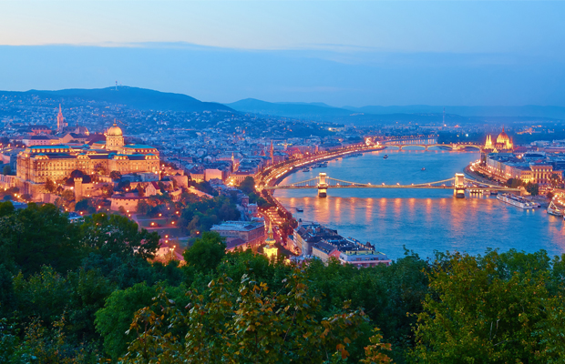 budapest - view from gellert hill