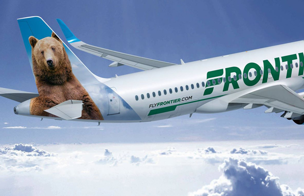 frontier airlines bear tail