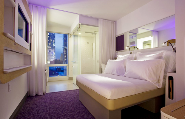 yotel new york premium cabin with smart bed