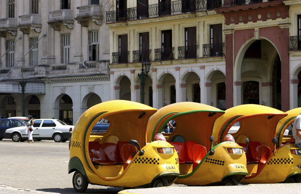 Coco taxis, a motorbike-type taxi, is great for getting around in Havana Cuba