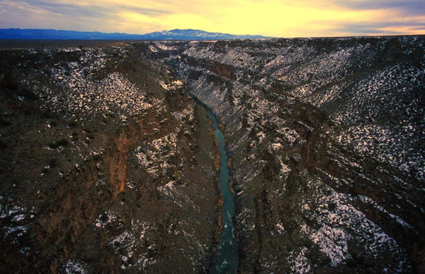 View from Taos Rio Grande Gorge, New Mexico