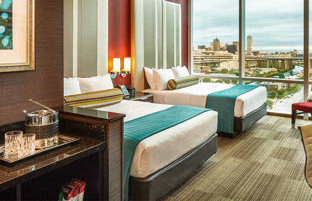 potawatomi hotel and casino, milwuakee - guest rooms