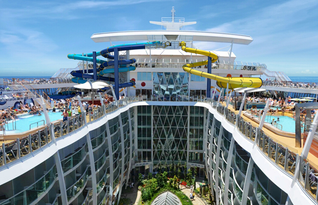 royal caribbean international harmony of the seas - new water park slides