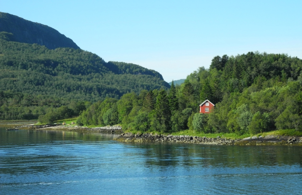 A summer cabin in a tiny isle outside Trondheim, Norway's original capital.