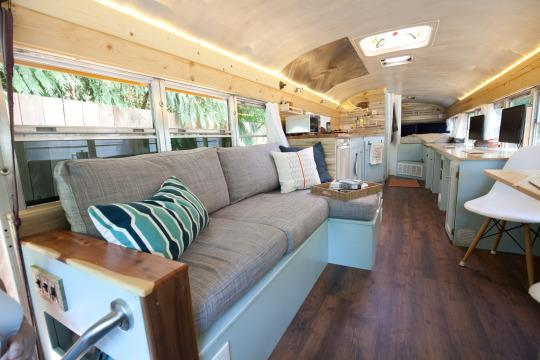 renovated bus for road trip (bigger than nyc apartments!)