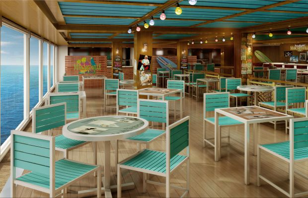 Margaritaville on the Norwegian Escape is the first in the brand to be built for a ship.