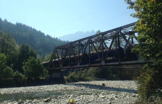 The Index Bridge in Index Washington
