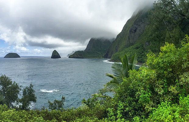 Kalawao Sea Cliffs at Kalaupapa National Historical Park, Molokai, Hawaii
