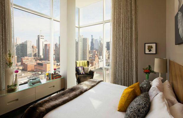 A guestroom at Ink48 hotel in New York City
