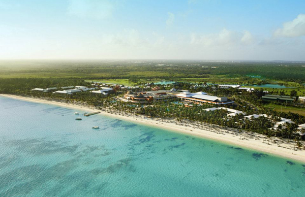 Aerial of Barcelo Bavaro Palace Deluxe, Punta Cana