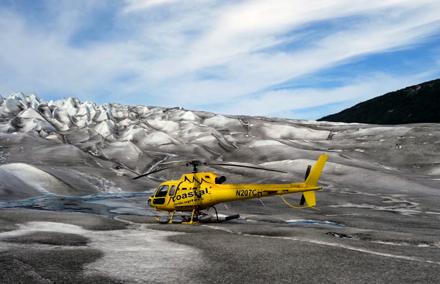 Helicopter on Taku Glacier Alaska - Jenny Peters