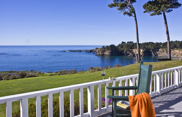 Little River Inn, Mendocino, California - veranda