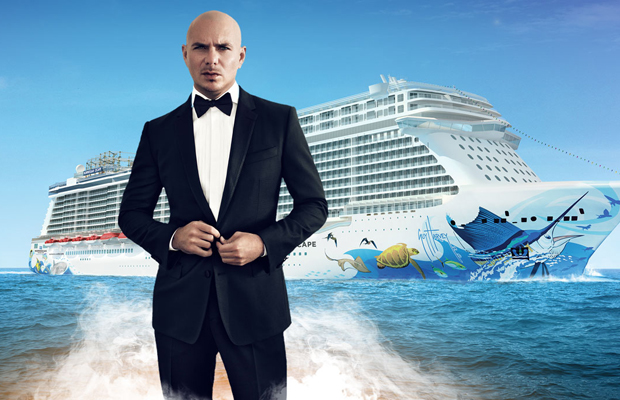 Norwegian Names Pitbull Godfather of Its Newest Ship - NCL
